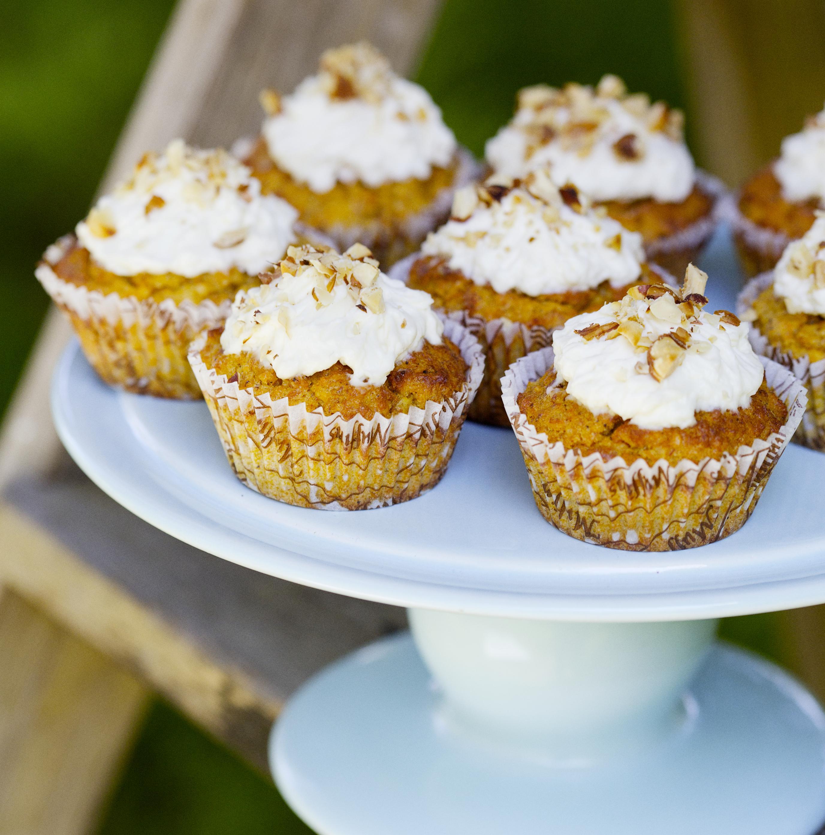 Cupcaky s mrkví, kokosem abanány