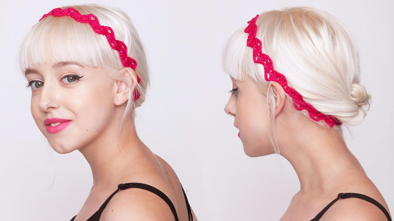 9adf0819861 Jak si uháčkovat efektní módní doplněk  Půvabná čelenka do vlasů ...