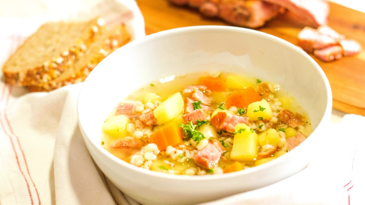 Jako od babičky: Uzená polévka skroupami