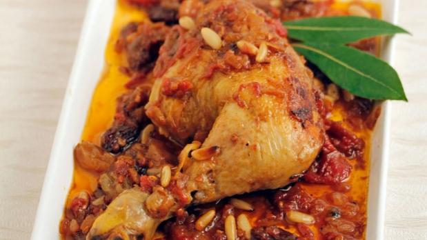 Voňavé kuře srozinkami apiniovými semínky