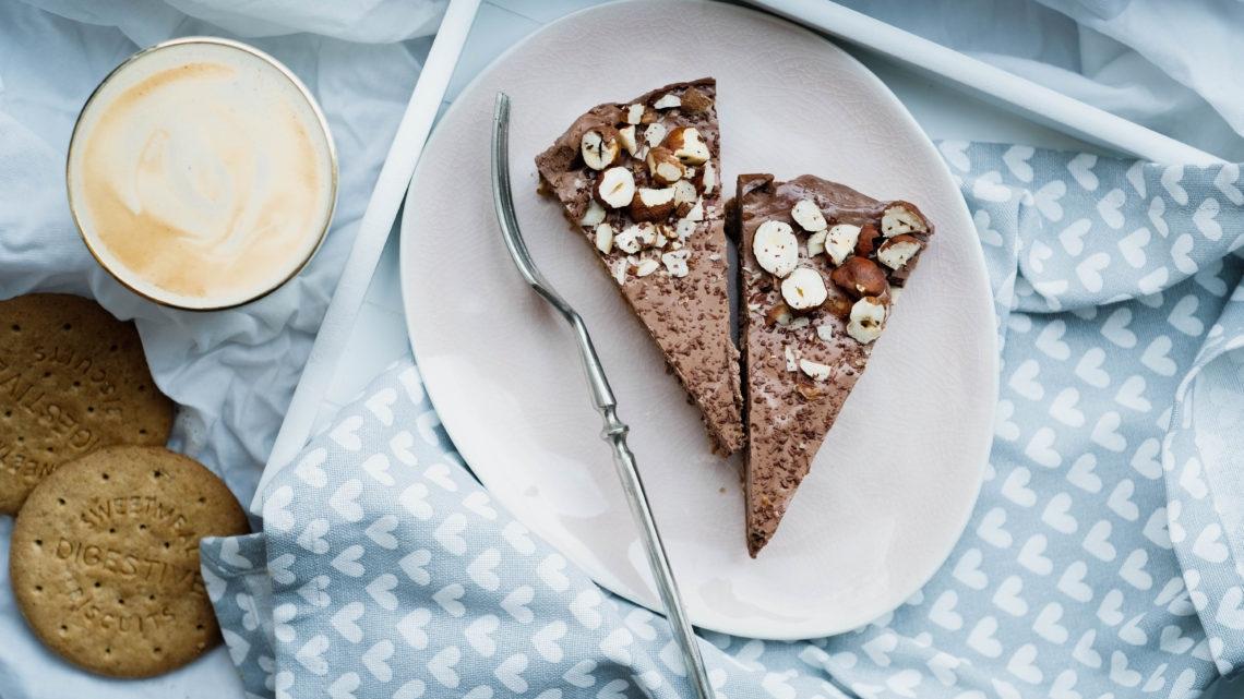 Arašídovočokoládový cheesecake ze skyru