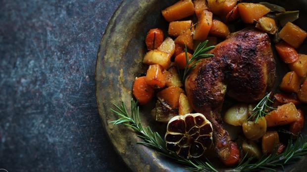 Kuře na zimní zelenině