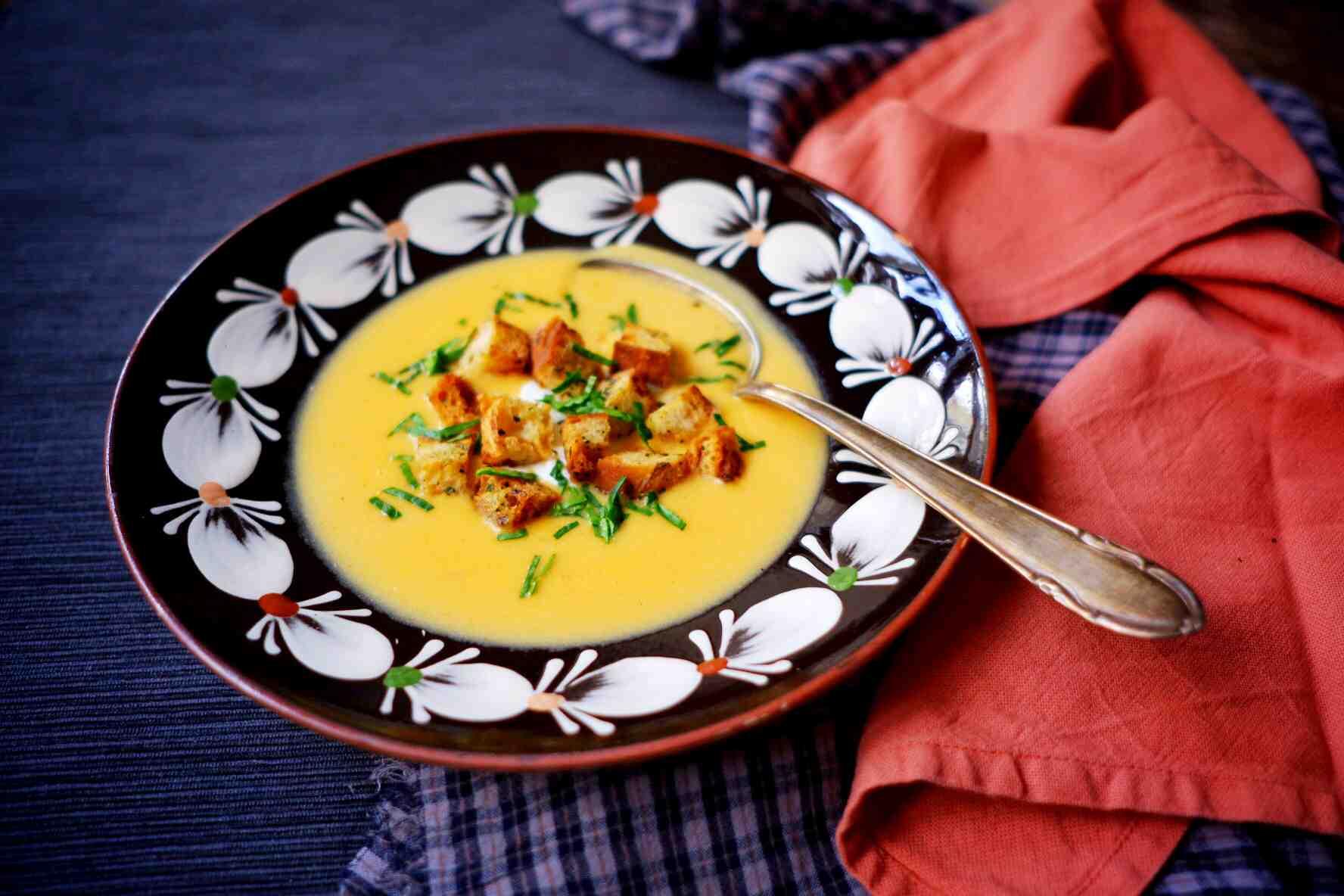S Klárou v kuchyni: Brynzová polévka demikát