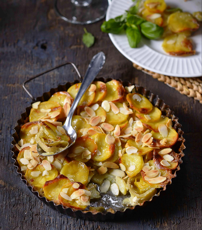 Zapečené brambory spórkem amandlemi