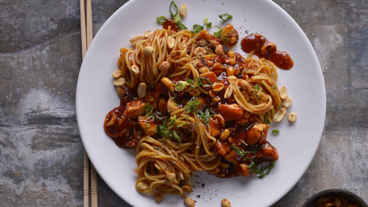 Špagety kung pao