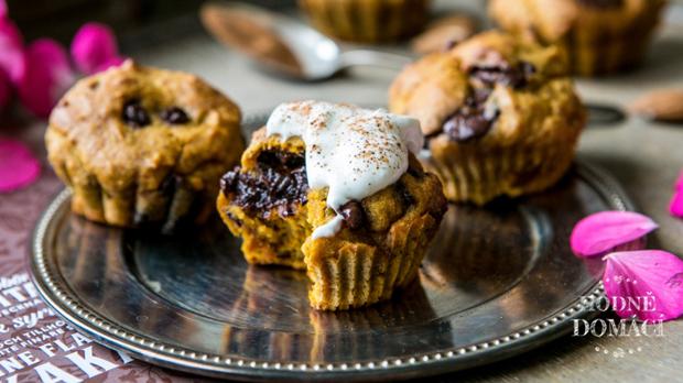 Dýňové muffiny sčokoládou