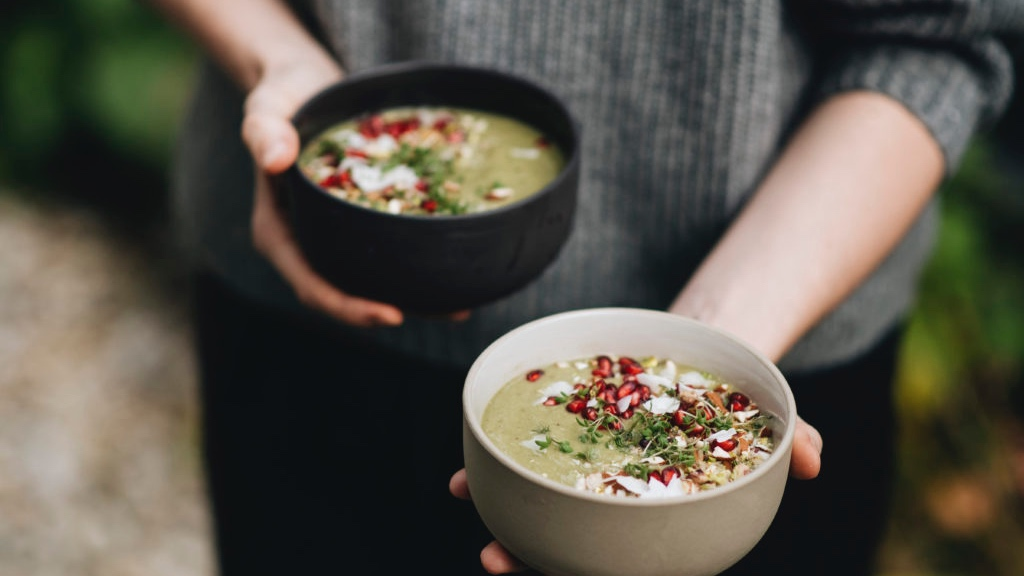 Zelená smoothie bowl