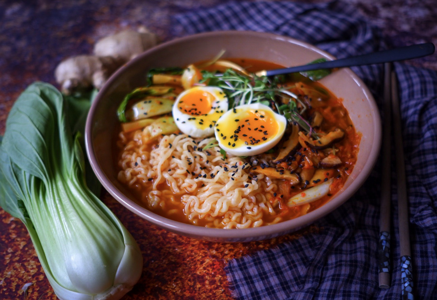 S Klárou v kuchyni: Jednoduchý kimchi ramen