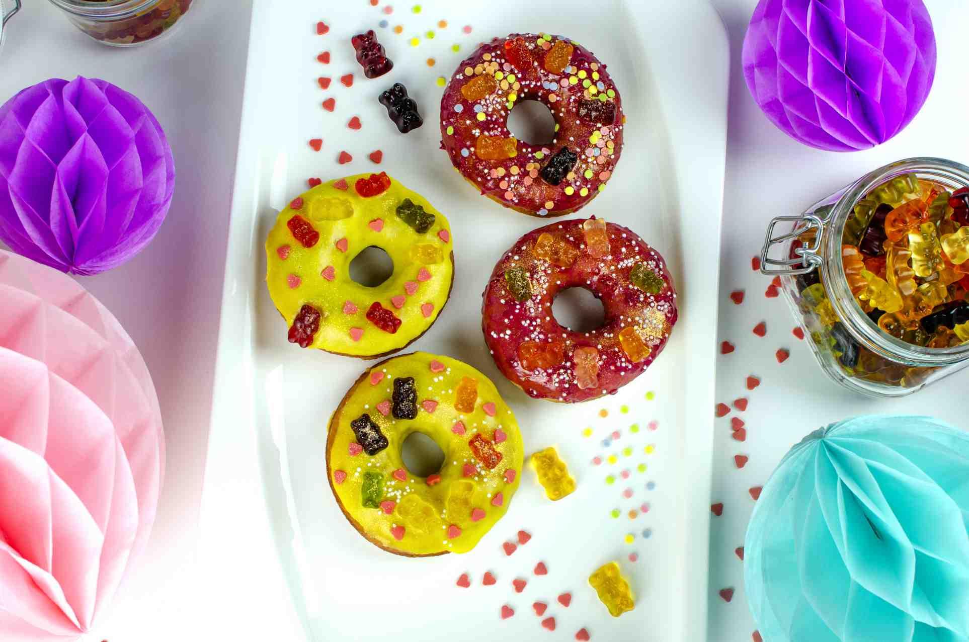 Donuty spolevou aHaribo medvídky