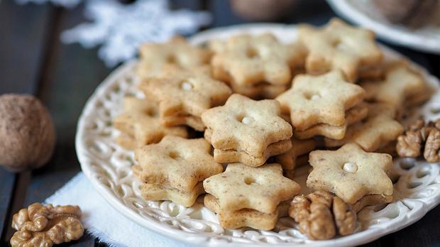 Slepované ořechové hvězdičky