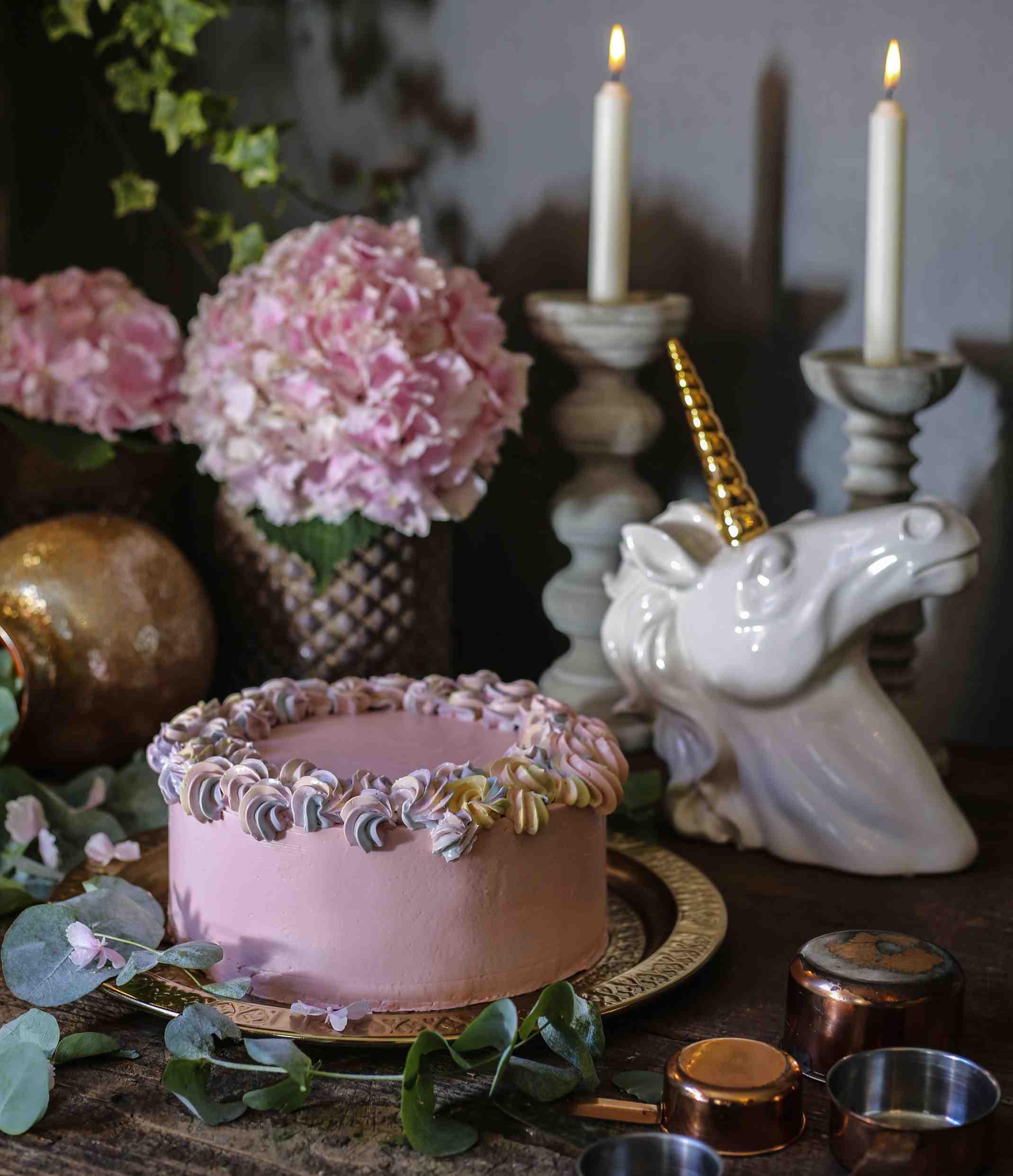 Duhový dort Unicorn podle Josefa Maršálka