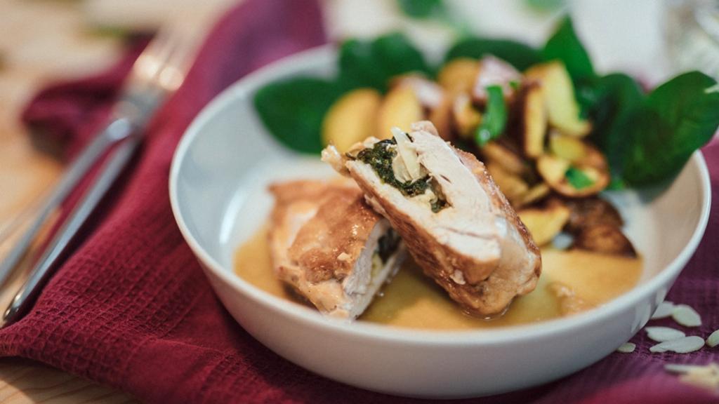 Rychlá večeře: Kuřecí kapsa se sýrem ašpenátem