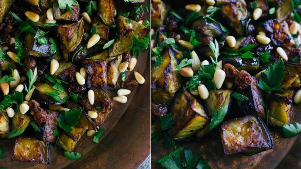 Lilkový salát spetrželí arozinkami