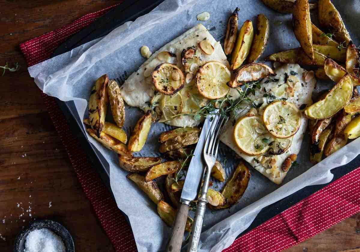 Candát s mandlemi acitronovo-tymiánové brambory
