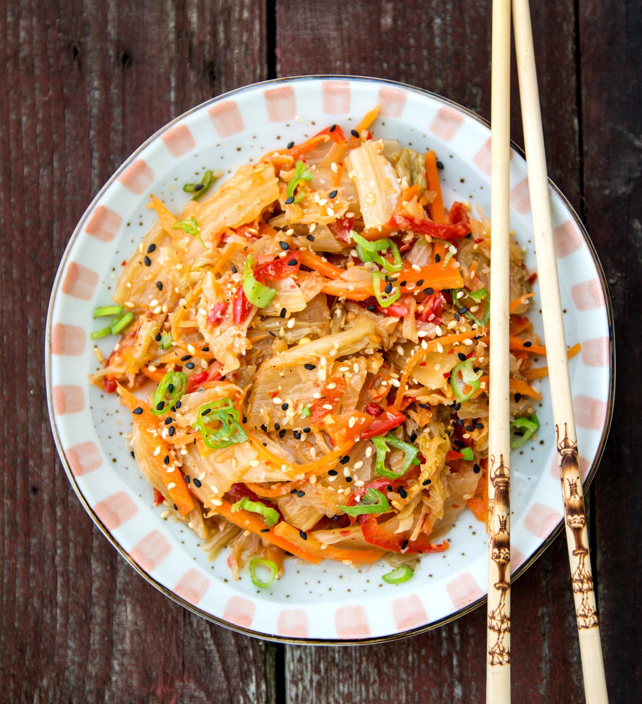 Korejský salát kimchi