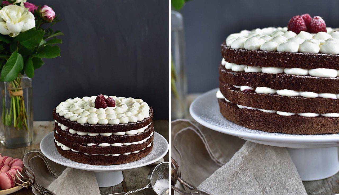 Nahatý dort s kakaovým korpusem