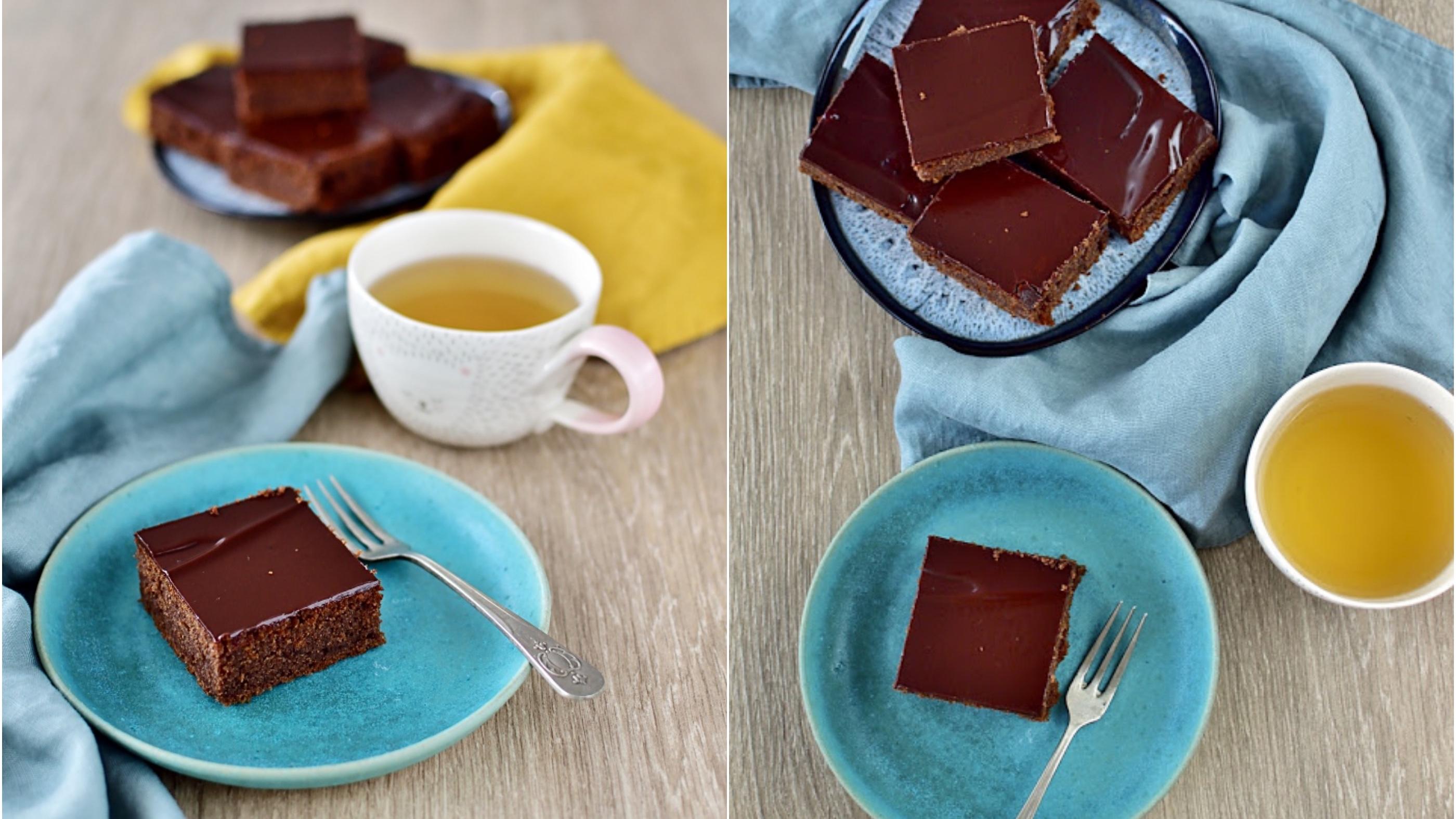 Jednoduchý hrnkový perník s čokoládovou polevou