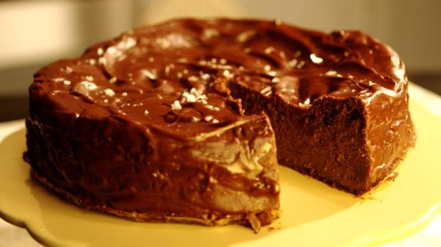 Čokoládový dort s mořskou solí