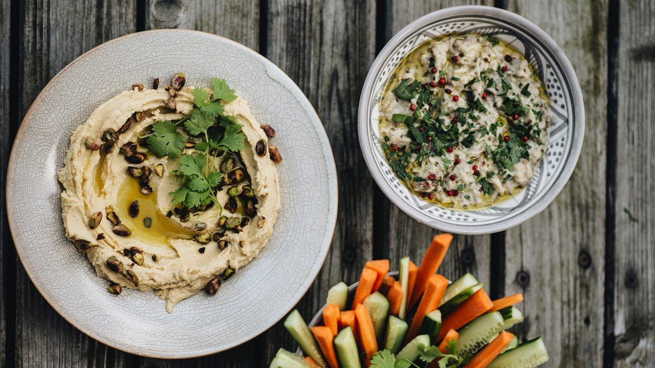 Hummus + Baba Ganuš