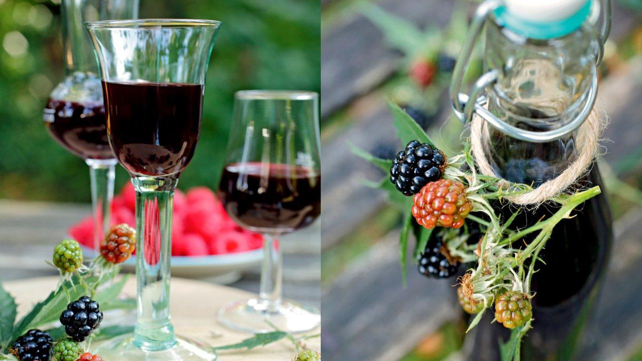 Ostružinovo-malinový likér