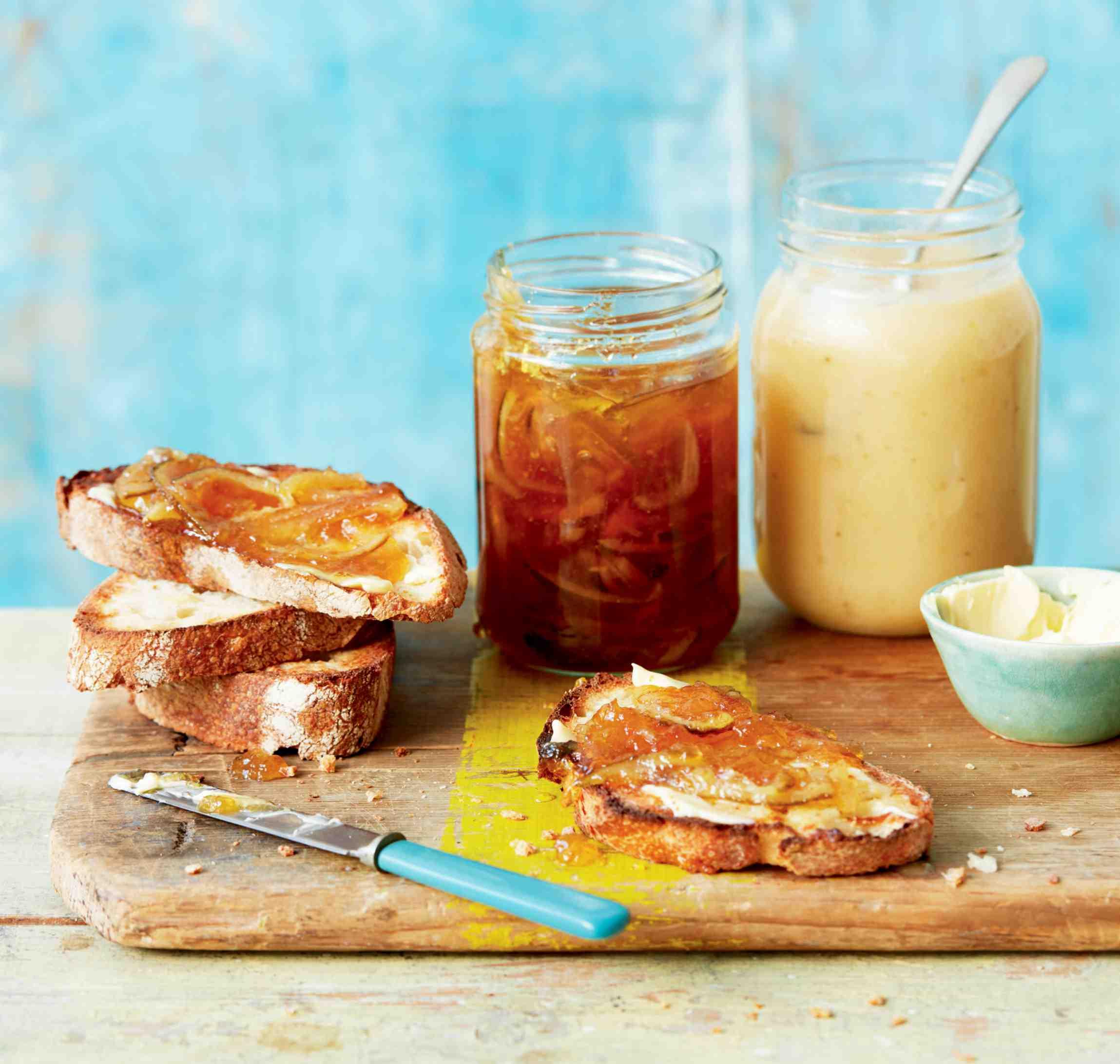 Limetová marmeláda acitronovo-banánová pomazánka