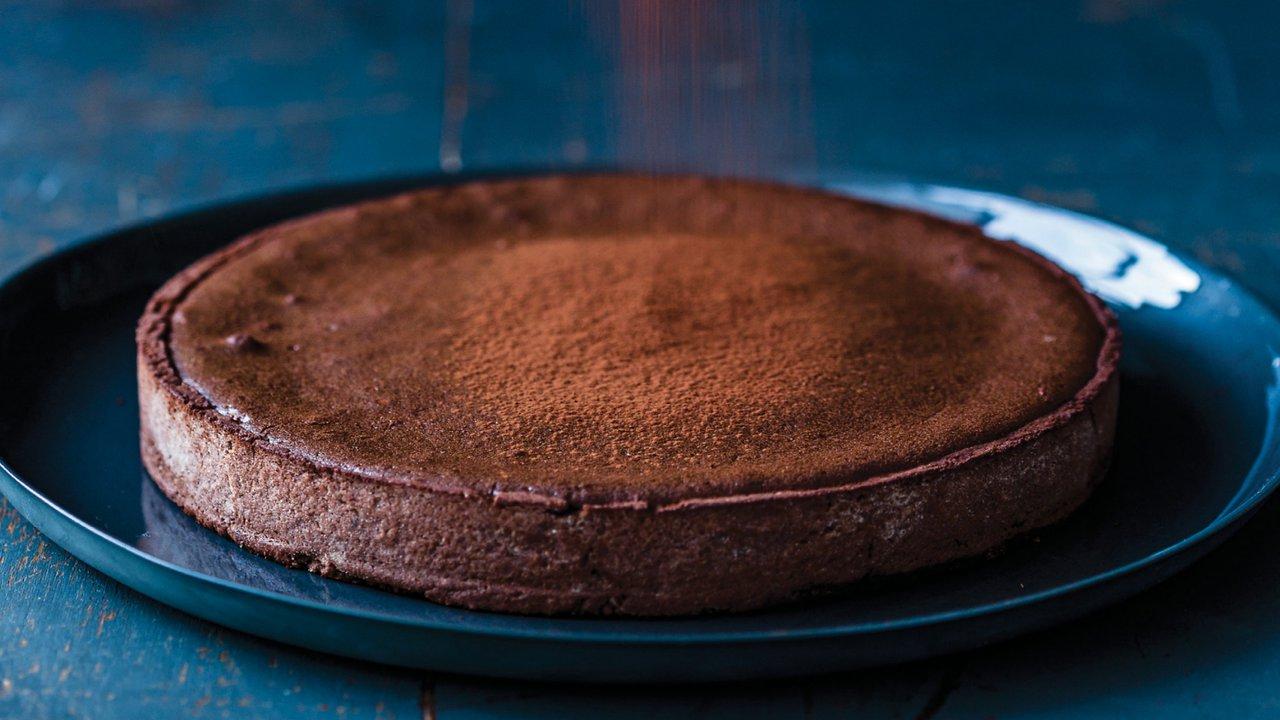 Horký čokoládový dort