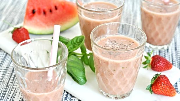 Jahodovo-melounové smoothie