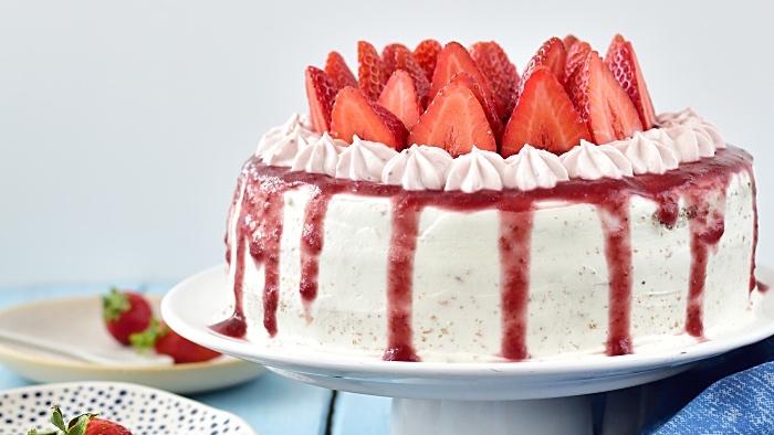 Jahodový dort