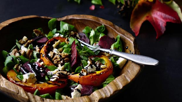 Podzimní salát s dýní a řepou