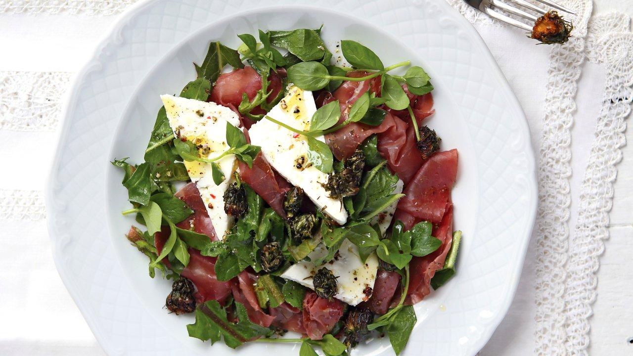 Falešné olivy zpampeliškových poupat apravá bresaola