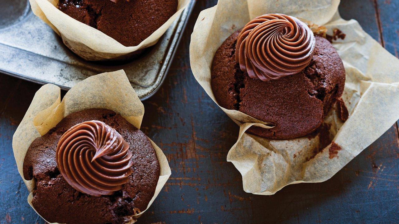 Čokoládové cupcaky s ganache