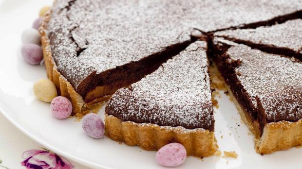 Čokoládovo-karamelový dort
