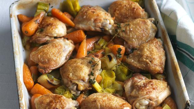 Farmářské dušené kuře