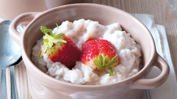 Pohanka s jogurtem ajahodami