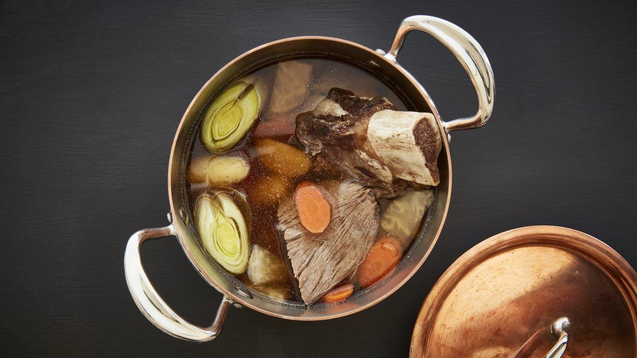 Vařené hovězí se zeleninou Pot au feu