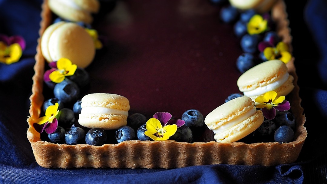Linecký koláč s borůvkami
