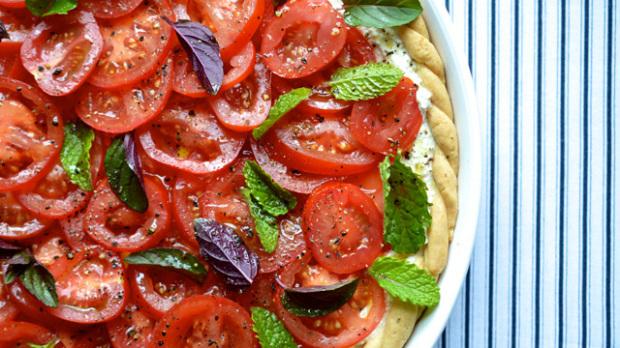Rajčatový koláč s ricottou