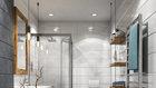 Koupelnám stále vládnou větší formáty obkladů Foto: