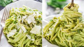 Krémové těstoviny s avokádem a špenátem Foto: