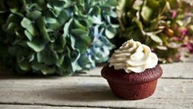 Red velvet muffiny zčervené řepy Foto:
