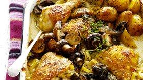 Pečené kuře s houbami Foto: