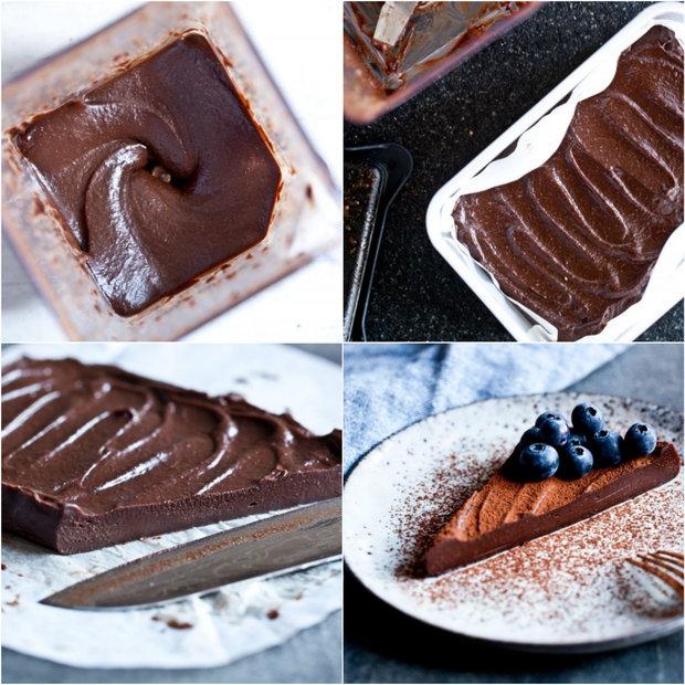 Raw čokoládový krémový řez 2 Foto: