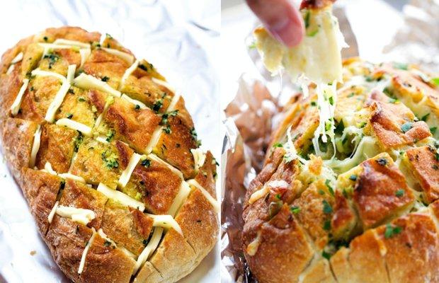 Sýrovo-česnekový trhací chléb 2 Foto: