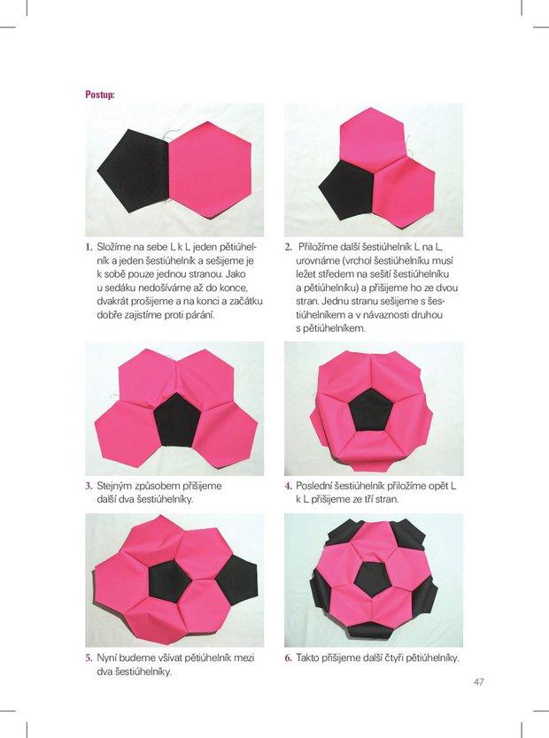 Jak vyrobit sedací vak v podobě kopacího míče Foto:
