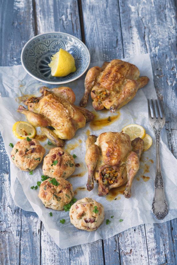 Jarní kuřata spečenými nádivkovými knedlíčky 2 Foto: