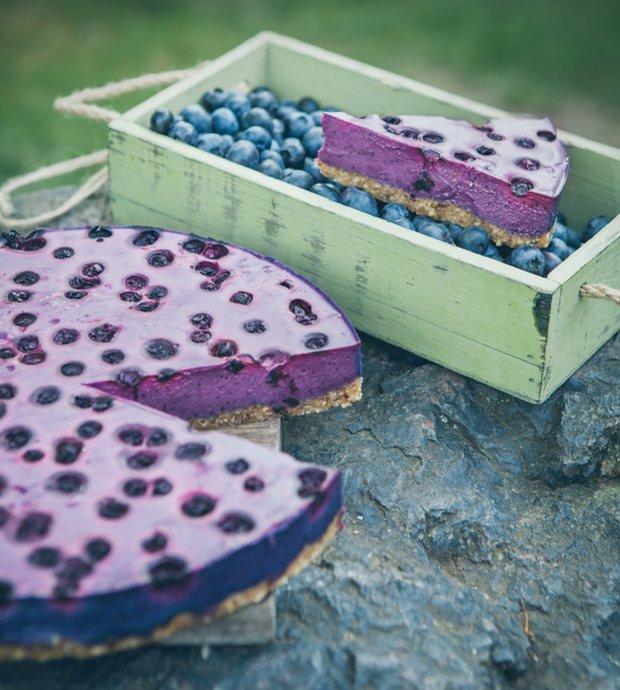 Borůvkový raw cheesecake  Foto: