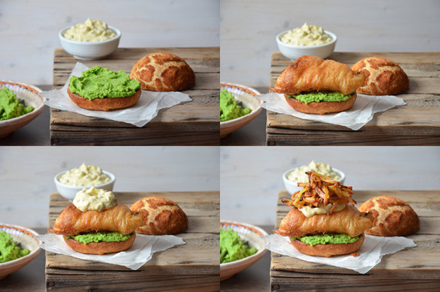 Fish & chips burger 2 Foto: