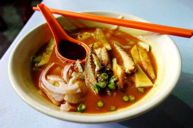 Za jídlem do Malajsie - polévka Asam Laksa Foto: