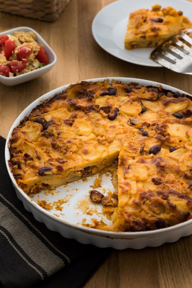 Bramborový koláč s chorizem a sýrem Foto:
