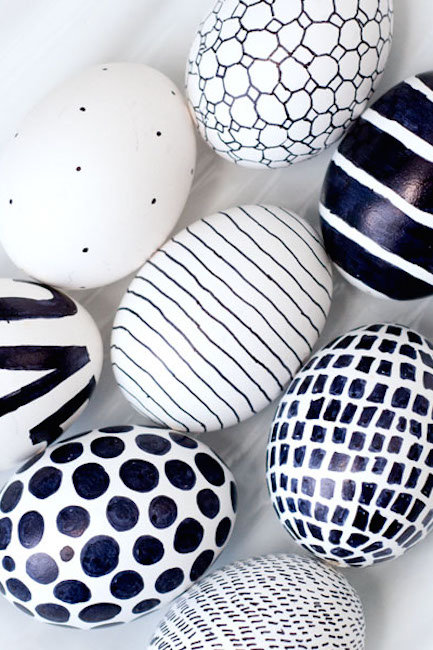 černobílá vajíčka Foto: